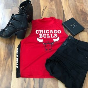 Jersey Style NBA Chicago Bulls Crop Top - Size M